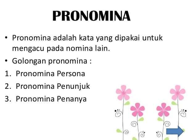 √ Contoh Pronomina : Pengertian, Jenis, Ciri dan Contohnya